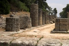 O local histórico da Olympia Foto de Stock