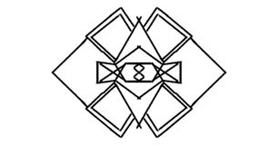 O logotipo alinha lustroso Imagens de Stock Royalty Free