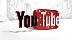 O logotipo 3D do tipo Youtube Fotografia de Stock Royalty Free
