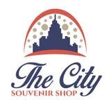 O logotipo da cidade Loja de lembrança Imagem de Stock