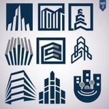 O logotipo da corretora de imóveis ajustou 2 Imagem de Stock Royalty Free