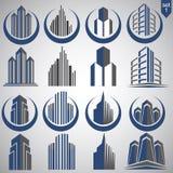 O logotipo da corretora de imóveis ajustou 1 Imagens de Stock