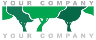 O logotipo da floresta Imagens de Stock
