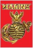 O logotipo de Marine Corps ilustração stock
