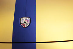 O logotipo de Porsche imagem de stock