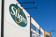 O logotipo de Sligro no dinheiro & leva o mercado Fotos de Stock Royalty Free