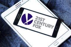 21o logotipo del zorro del siglo Foto de archivo