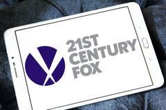 21o logotipo del zorro del siglo Fotografía de archivo