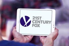 21o logotipo del zorro del siglo Fotos de archivo