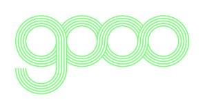 O logotipo do gooo é original e surpreendente foto de stock