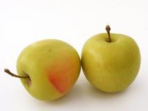 O logotipo e os gráficos para sua cópia do local espaçam imagens verdes da maçã Fotos de Stock Royalty Free