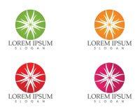 O logotipo e os símbolos de Sun star o vetor da Web do ícone - Fotografia de Stock