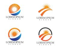 O logotipo e os símbolos de Sun star o vetor da Web do ícone - Foto de Stock Royalty Free