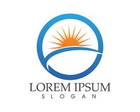 O logotipo e os símbolos de Sun star o vetor da Web do ícone - Fotos de Stock