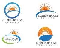 O logotipo e os símbolos de Sun star o vetor da Web do ícone - Imagens de Stock Royalty Free