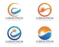 O logotipo e os símbolos de Sun star o vetor da Web do ícone - Imagens de Stock