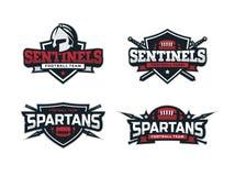 O logotipo moderno do futebol profissional ajustou-se para a equipe de esporte Imagens de Stock Royalty Free
