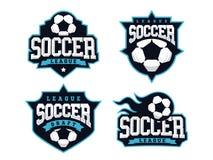 O logotipo profissional moderno do futebol ajustou-se para a equipe de esporte Fotos de Stock Royalty Free