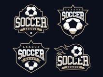 O logotipo profissional moderno do futebol ajustou-se para a equipe de esporte Foto de Stock Royalty Free