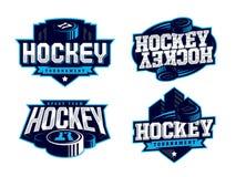 O logotipo profissional moderno do hóquei ajustou-se para a equipe de esporte Fotos de Stock Royalty Free