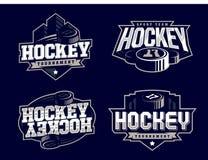 O logotipo profissional moderno do hóquei ajustou-se para a equipe de esporte Fotografia de Stock Royalty Free