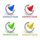 O logotipo rasgou e cone Imagem de Stock