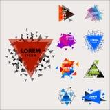 O logotipo sagrado do sumário do triângulo da geometria figura a ilustração criativa do vetor do triangulum do polígono místico d Imagens de Stock Royalty Free