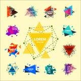 O logotipo sagrado do sumário do triângulo da geometria figura a ilustração criativa do vetor do triangulum do polígono místico d Imagem de Stock
