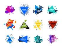 O logotipo sagrado do sumário do triângulo da geometria figura a ilustração criativa do vetor do triangulum do polígono místico d Imagem de Stock Royalty Free