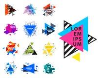 O logotipo sagrado do sumário do triângulo da geometria figura o polígono místico dos elementos Fotos de Stock