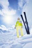 O lote da neve é bom para esquiar fotos de stock