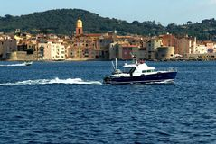 O louro de Saint Tropez Imagem de Stock