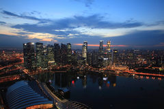 O louro do porto lixa Singapore Imagem de Stock Royalty Free