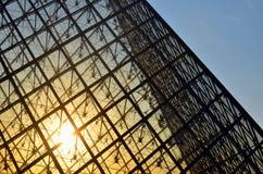 O Louvre, França Imagem de Stock