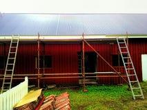 O lugar de funcionamento, telhado foi mudado imagem de stock