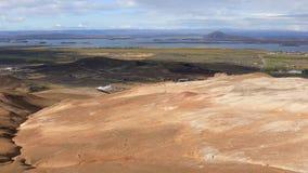 O lugar de Myvatn do lago em Islândia do norte video estoque