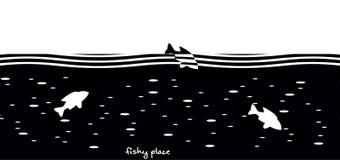O lugar duvidoso está um completo do lugar dos peixes Imagem de Stock Royalty Free