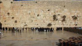 O lugar lamentando dos judeus. Parede lamentando. Parede ocidental no Jerusalém, Israel filme
