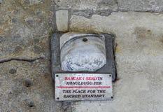 O lugar para o padrão sagrado no palácio de Topkapi em Istambul imagem de stock