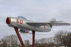 O lutador soviético com estrela vermelha foto de stock royalty free
