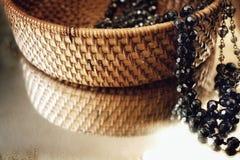 o luxo da joia perla o caixão da reflexão de espelho do bijouterie Imagem de Stock Royalty Free