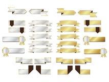 O luxo etiqueta e move o projeto ilustração stock