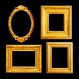 O luxo ornamentado dourou quadros Imagens de Stock