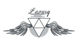 O luxo voa o emblema ilustração do vetor