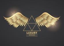 O luxo voa o emblema ilustração royalty free