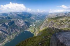 O Lysefjord Imagem de Stock