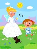 O mágico de Oz maravilhoso 07 Dorothy e Glinda ilustração stock