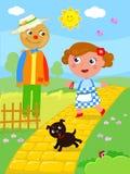 O mágico de Oz maravilhoso 02 o espantalho ilustração do vetor