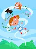 O mágico de Oz maravilhoso 01 o furacão ilustração royalty free