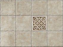 O mármore decorou o travertin das telhas do fundo Imagens de Stock